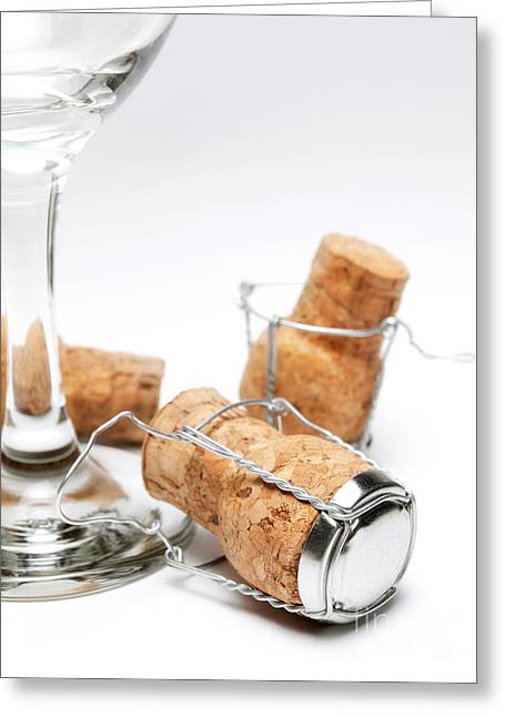 Bottle Cap Greeting Cards - Glass and corks Greeting Card by Sinisa Botas