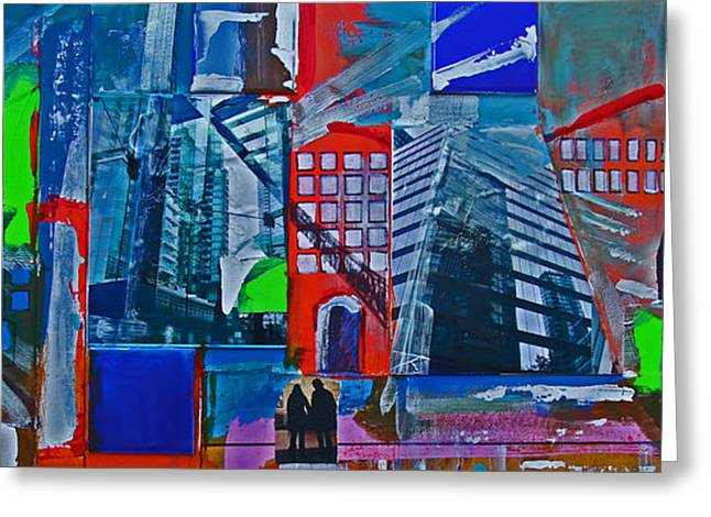 Vancouver Mixed Media Greeting Cards - Glass And Steel Greeting Card by Walter Fahmy