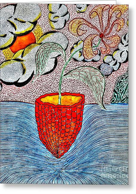 Glass Pyrography Greeting Cards - Glass And The Sea Greeting Card by Yury Bashkin
