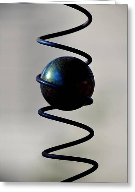 Greeting Cards - Glass Ball Abstract Greeting Card by Maria Urso
