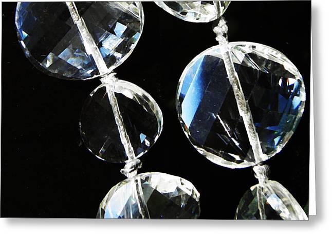 Glass Beads Greeting Card by Sarah Loft