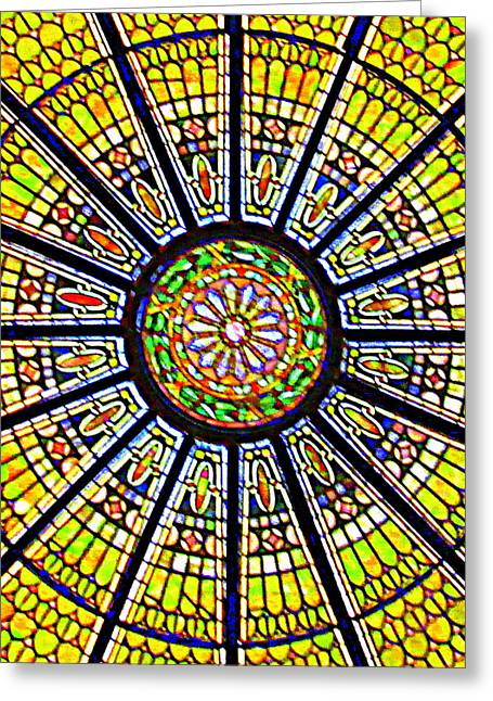 Glass Ceiling Greeting Cards - Glass Ceiling 1 Greeting Card by Randall Weidner