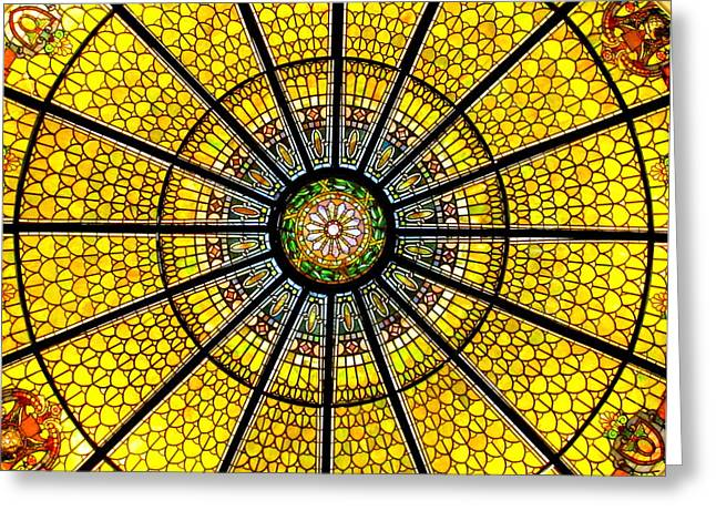 Glass Ceiling Greeting Cards - Glass Ceiling 2 Greeting Card by Randall Weidner