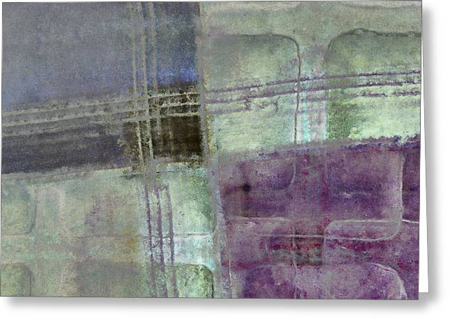Dusty Blue Greeting Cards - Glass Crossings Greeting Card by Carol Leigh