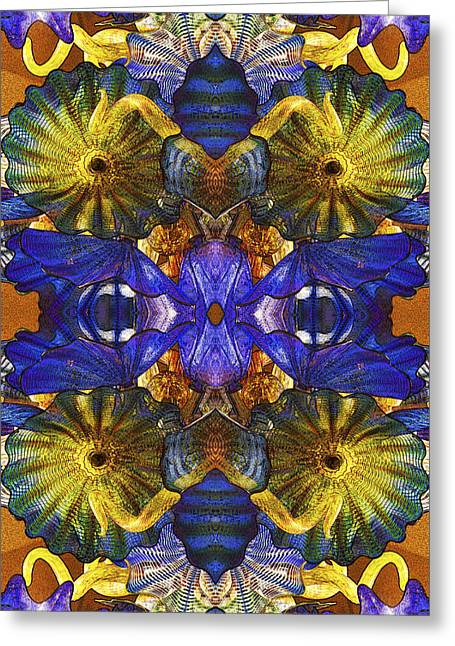 Cobalt Blue Greeting Cards - Glass Designs 15 Greeting Card by Michael Anthony