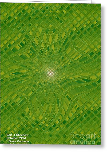 Abstract Digital Glass Greeting Cards - Glass Fantasia Catus 1 No 2 V Greeting Card by Gert J Rheeders