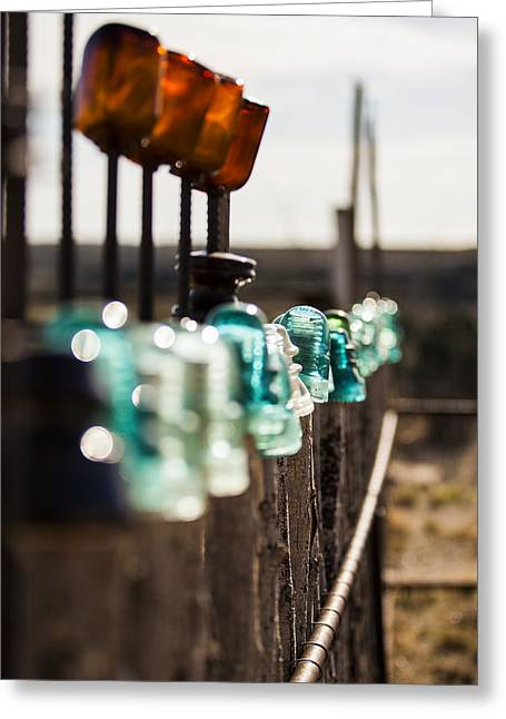 Langtry Greeting Cards - Glass Fence Greeting Card by Amber Kresge