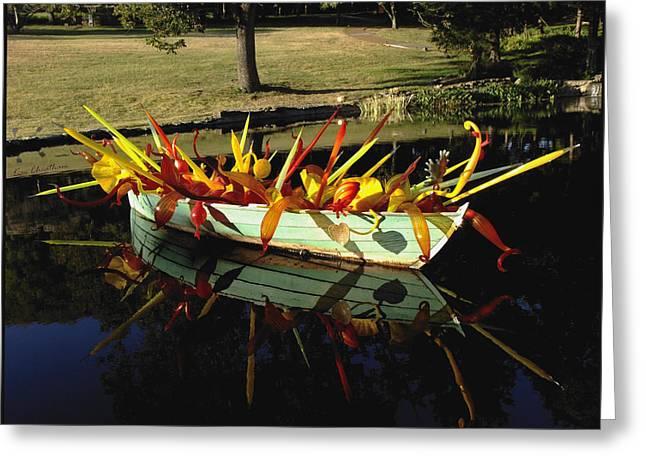 Cheekwood Greeting Cards - Glass-filled Boat Greeting Card by Kae Cheatham