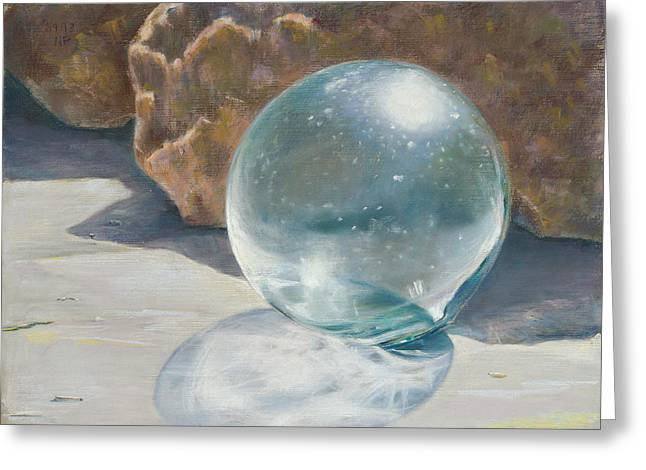 Birdseye Greeting Cards - Glass Float Greeting Card by Nick Payne