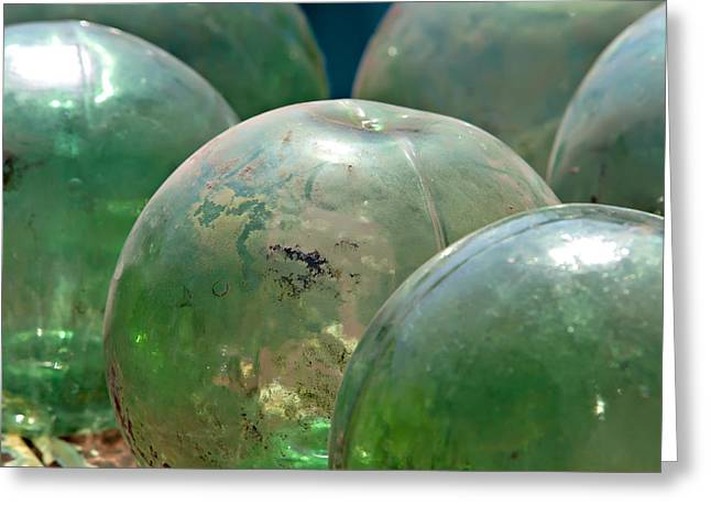 Glass Floats Greeting Cards - Glass Floats Greeting Card by Art Block Collections