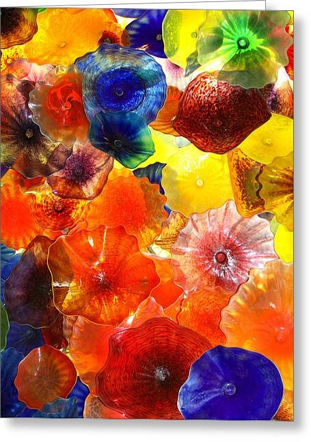Chihuly Glass Greeting Cards - GLASS GARDEN Las Vegas Greeting Card by William Dey