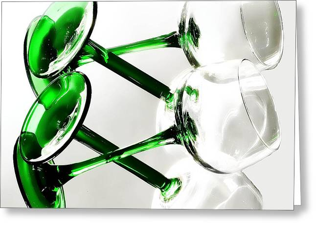 Glass Glow Greeting Card by Camille Lopez