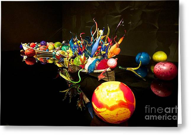 """glass Museum"" Greeting Cards - Glass in Full Color Greeting Card by Ken Andersen"