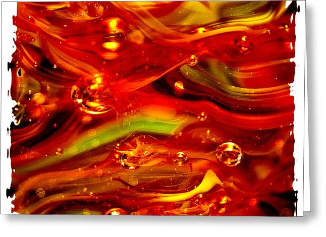 David Patterson Digital Art Greeting Cards - Glass Macro Abstract RF1CE Greeting Card by David Patterson