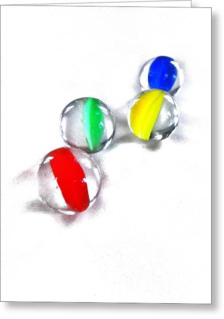 Marble Eye Greeting Cards - Glass Marbles Greeting Card by Marianna Mills
