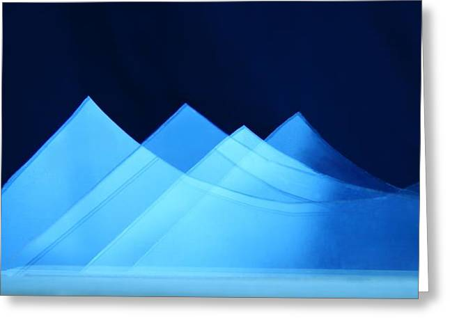 Mountains Glass Greeting Cards - Glass Mountains Greeting Card by Corrie Everhart