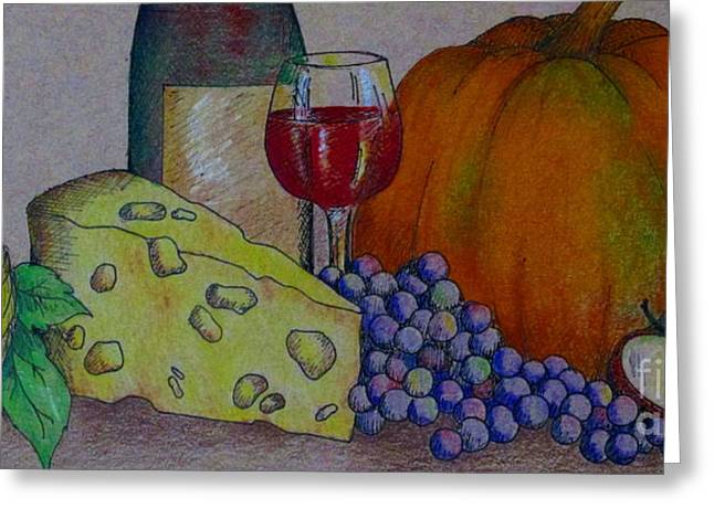 Wine-glass Drawings Greeting Cards - Glass Of Red Greeting Card by Catherine Howley