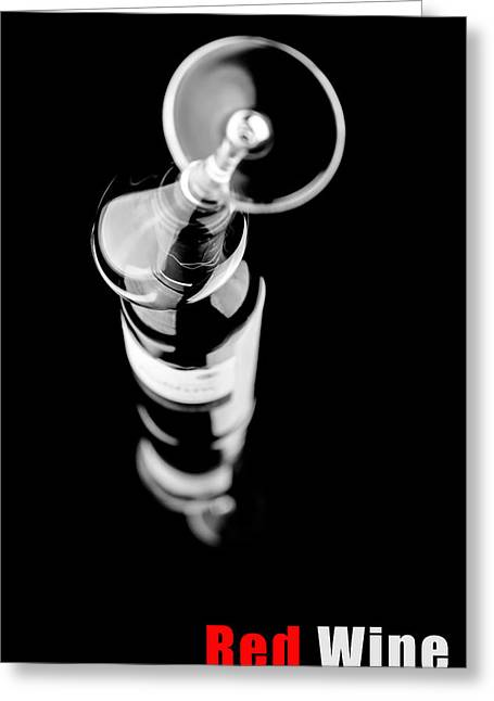 Wine Pour Greeting Cards - Glass of red wine Greeting Card by Toppart Sweden