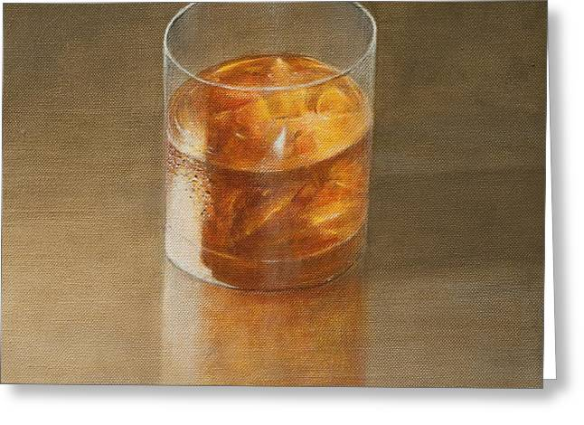 Glass of Whisky 2010 Greeting Card by Lincoln Seligman