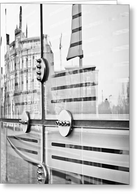 Component Greeting Cards - Glass panels and reflections Greeting Card by Tom Gowanlock