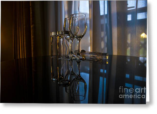 Glass Reflection Greeting Card by Svetlana Sewell