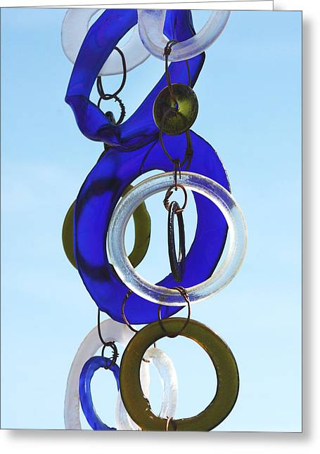 Wind Chimes Greeting Cards - Glass Rings Greeting Card by Art Block Collections