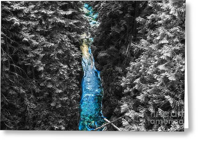 Commercial Photography Pyrography Greeting Cards - Glass river Greeting Card by Jack Vainer