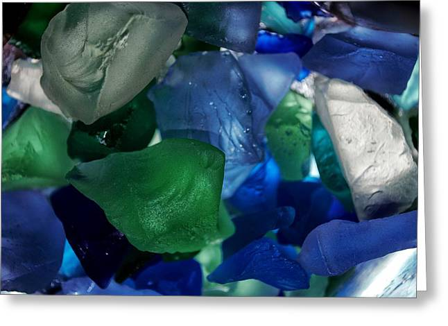 Sand Patterns Mixed Media Greeting Cards - Glass Rocks Greeting Card by Todd and candice Dailey