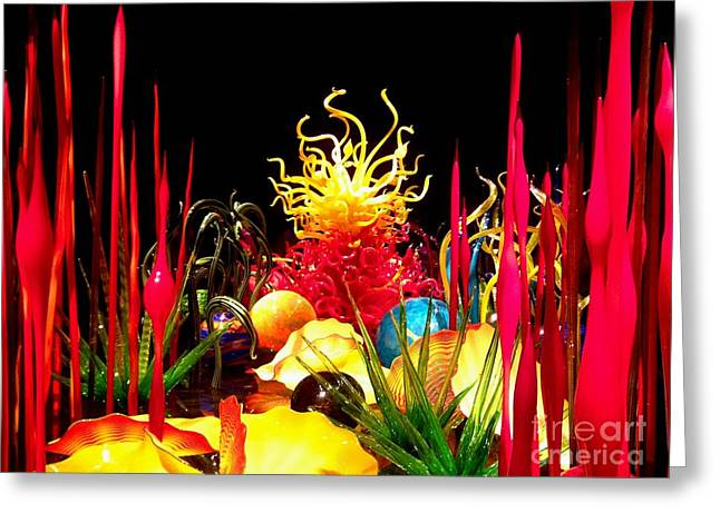 Glass Wall Greeting Cards - Glass sculpture 004 Greeting Card by Cristina Stefan