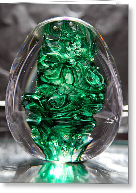 Glass Sculpture Egw  Greeting Card by David Patterson