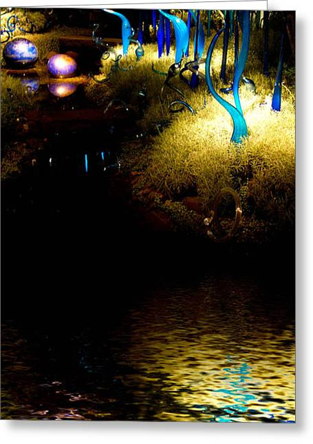 Phipps Conservatory Greeting Cards - Glass Sculpture Reflections Greeting Card by Amy Cicconi