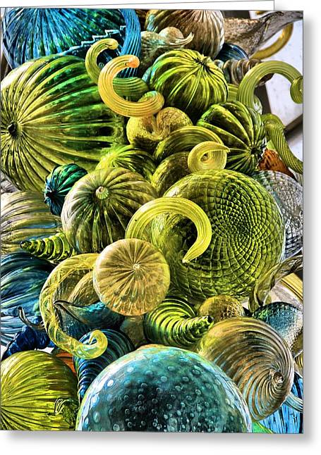Art Blown Glass Greeting Cards - Glass Shapes Greeting Card by Dan Sproul