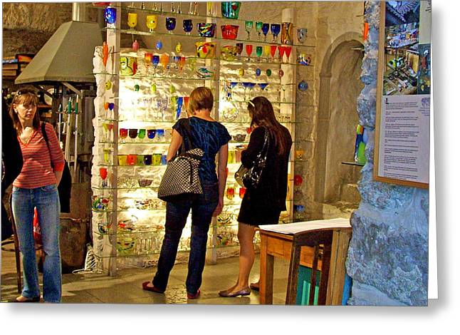 Tallinn Digital Greeting Cards - Glass Shop in Old Town Tallinn-Estonia Greeting Card by Ruth Hager