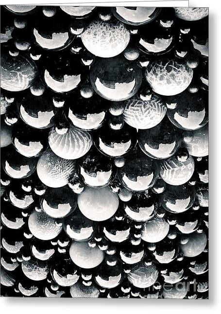 Glass Ball Greeting Cards - GLASS SKY blown glass spheres of Mdina glass in Malta Greeting Card by Andy Smy