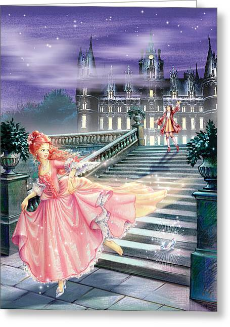 Running Shoe Greeting Cards - Glass Slipper Greeting Card by Zorina Baldescu