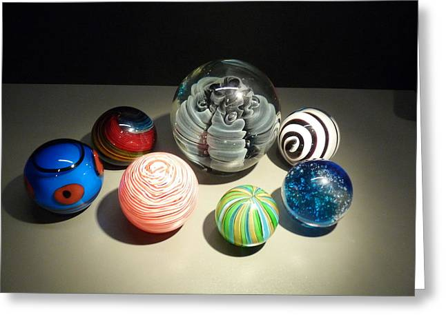 Sanford Greeting Cards - Glass Spheres Greeting Card by Sanford
