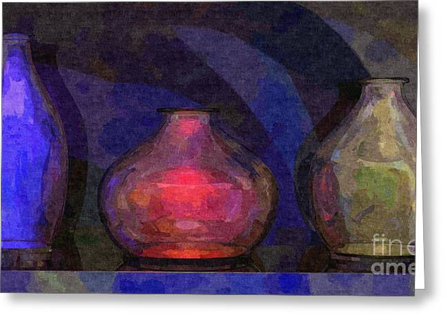Glass Vase Greeting Cards - Glass Still Life - 22032013 Greeting Card by Michael C Geraghty