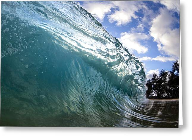 Ocean Art Photography Greeting Cards - Glass Surge Greeting Card by Sean Davey