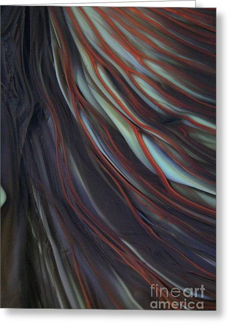 White Glass Art Greeting Cards - Glass Veins Greeting Card by Kimberly Lyon