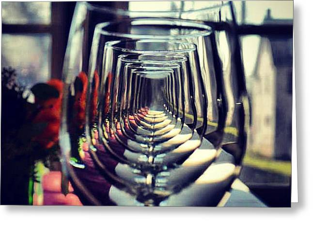 Sandeep Joshi Greeting Cards - Glass Way Greeting Card by Sandeep Joshi