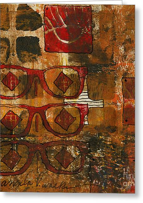 Printing Mixed Media Greeting Cards - Glasses Greeting Card by Angela L Walker