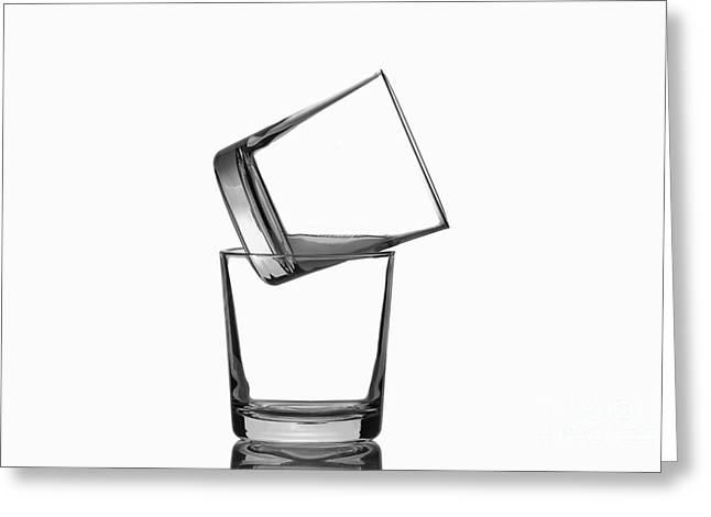 Restaurant On Top Greeting Cards - Glasses Greeting Card by Bahadir Yeniceri