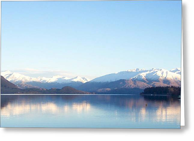 Snow Capped Greeting Cards - Glassy Lake Wanaka Greeting Card by Jill Blackwood