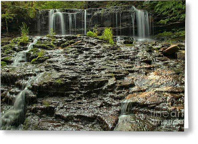 Mohawk Park Greeting Cards - Glassy Rocks At Mohawk Greeting Card by Adam Jewell