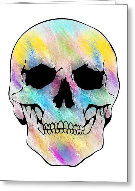 Scull Greeting Cards Greeting Cards - Glassy Skull Greeting Card by Mauro Celotti
