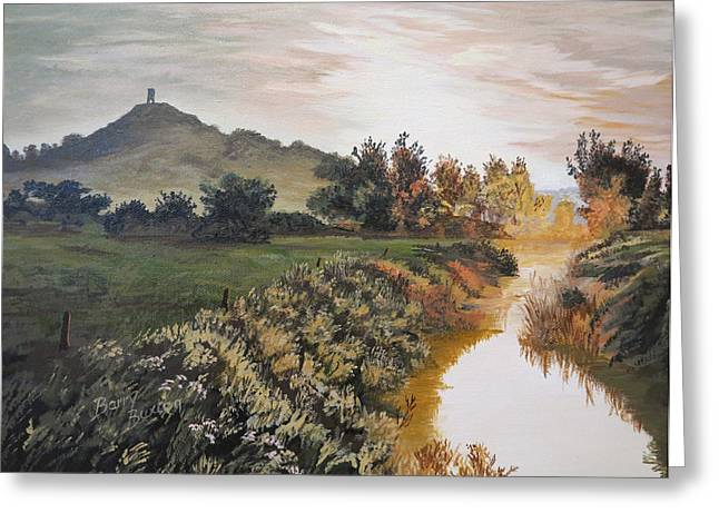 Tor Paintings Greeting Cards - Glastonbury Tor Greeting Card by Barry Buxton