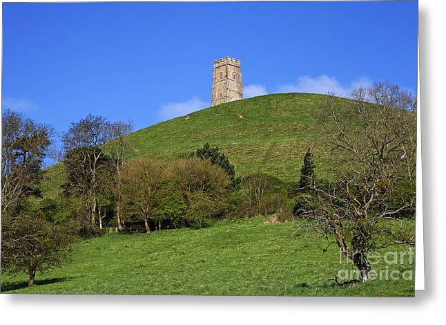 Somerset - England Greeting Cards - Glastonbury Tor Somerset England Greeting Card by Robert Preston