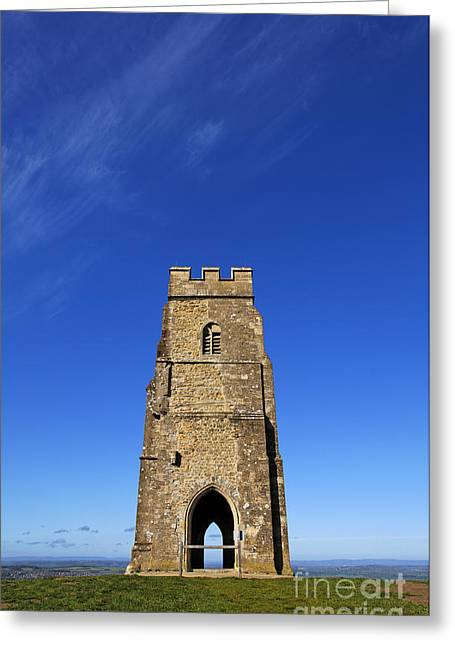 Somerset - England Greeting Cards - Glastonbury Tor Somerset Greeting Card by Robert Preston