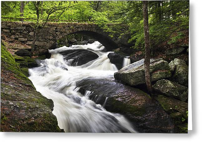 Gleason Falls Greeting Card by Eric Gendron