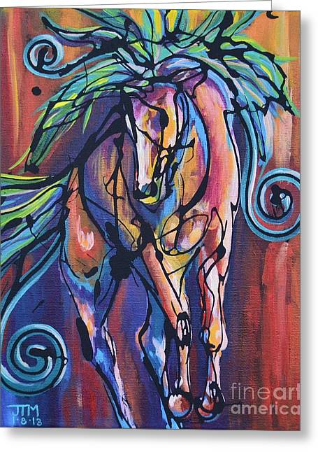 Paso Fino Greeting Cards - Glee Greeting Card by Jonelle T McCoy
